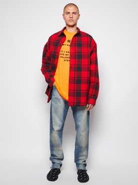 Hi my name is t-shirt fluorescent orange