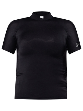 Fitted High-neck Top Black