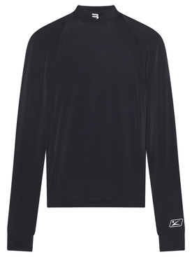 Fitted Long-sleeve High-neck top black