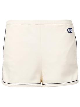Interlocking G jersey shorts natural white