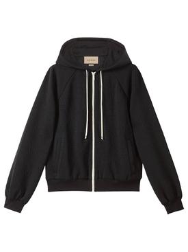 GG Jacquard Jersey Zip Jacket Black
