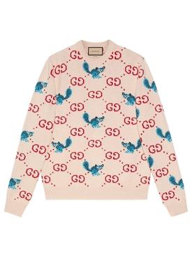 X Freya Hartas GG Animal Wool Sweater Ivory