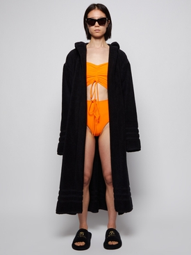 TERRY CLOTH BATHROBE BLACK