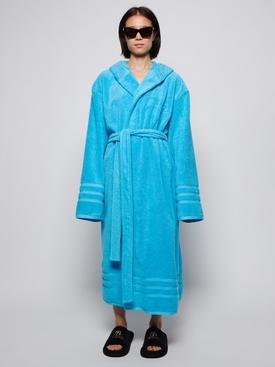 TERRY CLOTH BATHROBE AZURE