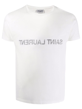 Reverse Logo T-shirt Natural White