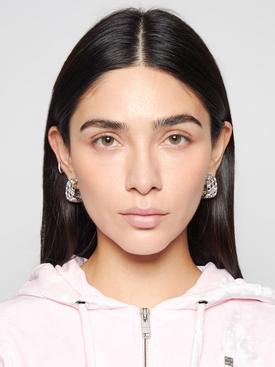 3D Print Hoop Earrings Silver