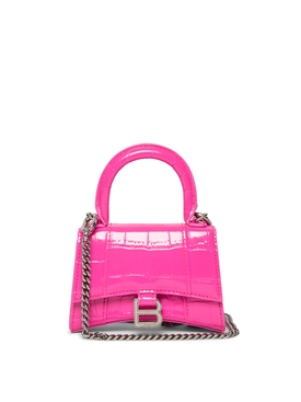 Chain Strap Hourglass Mini Bag Pink