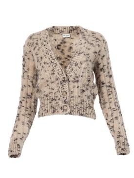 Cardigan Sweater Beige Noir