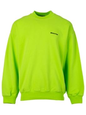 Crewneck Logo sweater Lime and Black