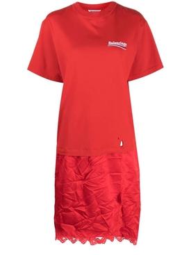 T-Shirt Slip Dress Red