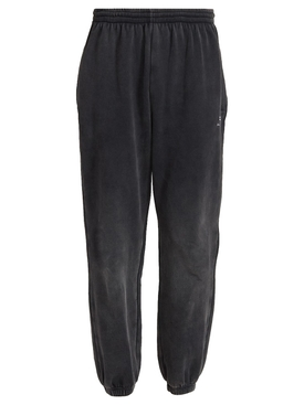 Stretch Knee Pants Washed Black