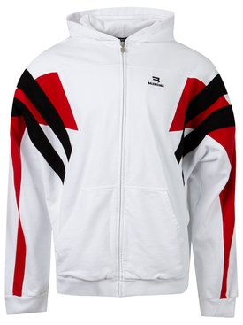 Tracksuit Hoodie White and Red