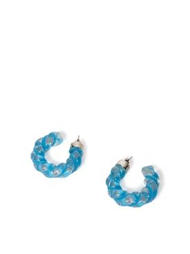 TWIST HOOP EARRINGS BLASTER BLUE