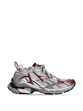 LOW-TOP RUNNER White and Burgundy