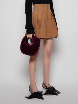 Velvet Shearling Bag Mystic