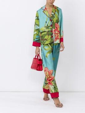 For Restless Sleepers - Fern Printed Silk Shirt - Women