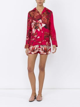 For Restless Sleepers - Floral Print Pyjama Blouse - Women