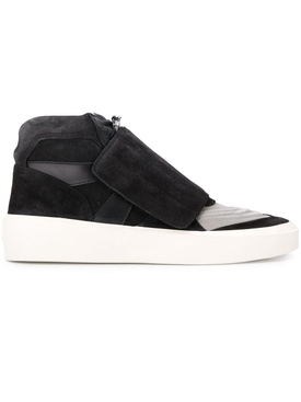 Suede High top skate sneaker Black and Grey