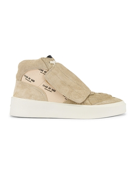Fear Of God - Suede High Top Skate Sneaker Sand And Cream Monogram - Men