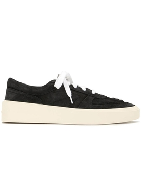 White and black low-top skate sneakers