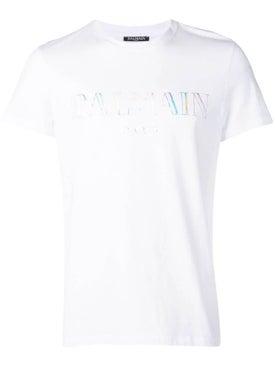 Balmain - Metallic Logo Print Shirt White - Men