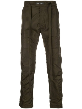 Nylon cargo pants GREEN