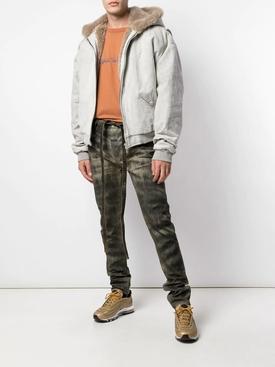 Tie waist jeans zebra stripe