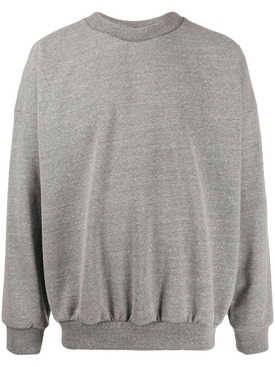 Over-sized logo print sweatshirt HEATHER GREY