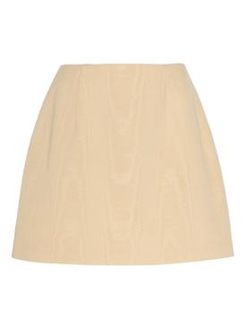 West Moire Silk Mini Skirt