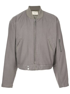 Fear Of God - Grey Cropped Bomber Jacket - Men