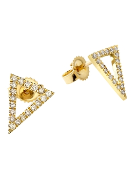 18k yellow gold and diamond apex studs