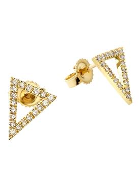 18k yellow gold and diamond apex studs