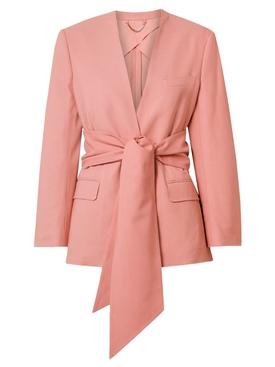 Pink front-tie jacket
