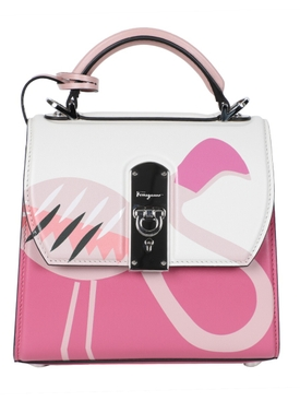 X THE WEBSTER PINK FLAMINGO BOXYZ HANDBAG
