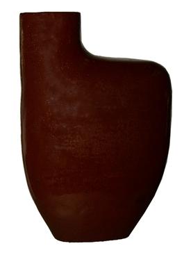 Burgundy Red Sculptural Vase RED