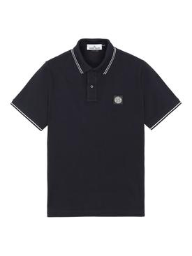 cotton pique polo shirt BLEU MARINE