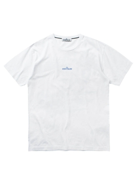 Center logo cotton t-shirt BIANCO WHITE