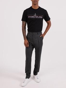 Embroidered logo cotton t-shirt BLACK