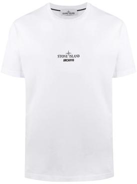 Archivio Compas logo t-shirt, WHITE