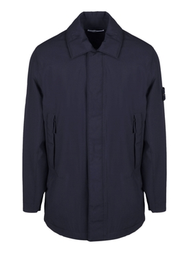 Blue long-sleeve overshirt