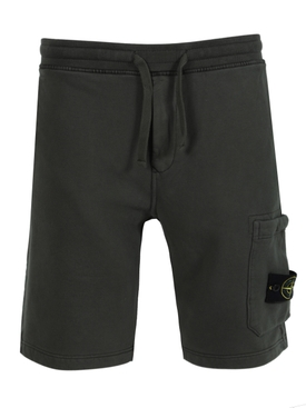 FLEECE COTTON SWEAT SHORTS MUSCHIO GREEN