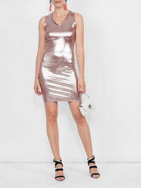Alexandre Vauthier - Metallic Dress Pink - Mini