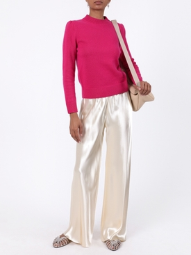 Pink cashmere crew-neck sweater