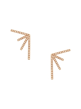 18kt rose gold sputnik earrings