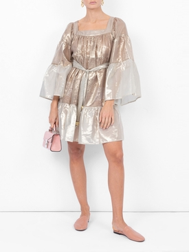Mini Peasant Dress GOLD