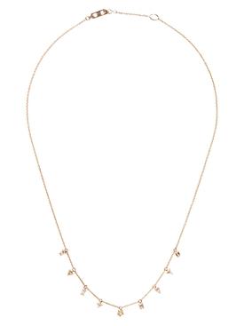 18k rose gold and nine diamonds prism necklace