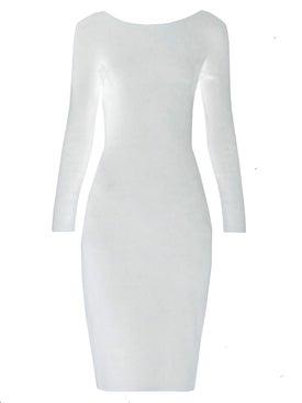 The Row - Darta Scoop-back Midi Dress White - Women