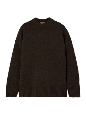 Umber mélange cashmere sweater
