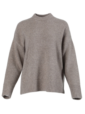Taupe staple knit sweater