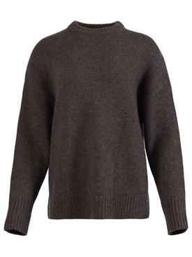 Oversized crewneck jumper, brown